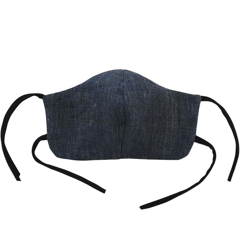 Mascherina lavabile in tessuto naturale - Uomo