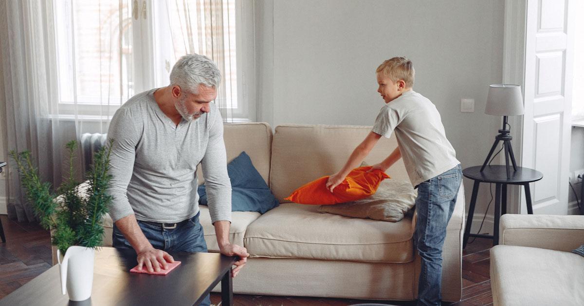 Eco-pulizie di casa - il soggiorno